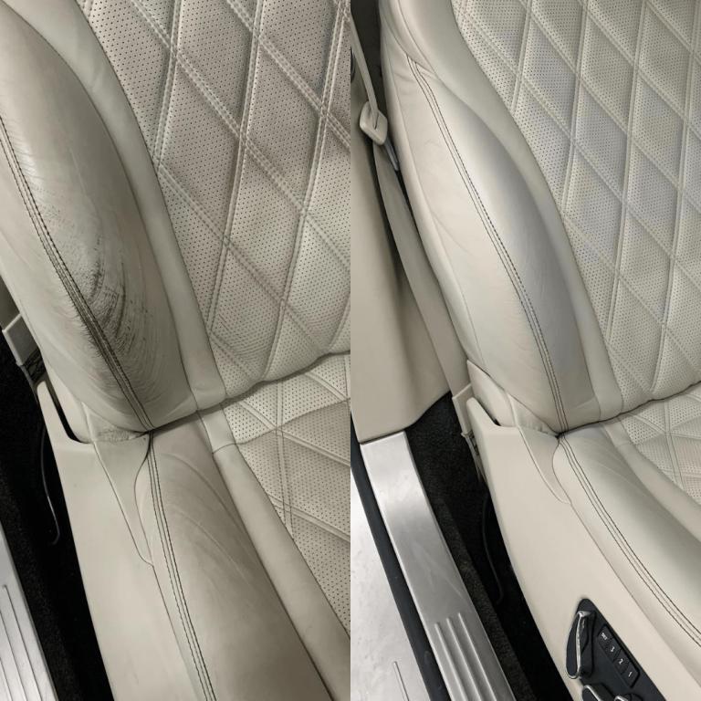 Bentley leather car seat repair